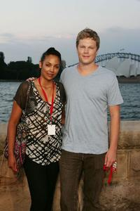 Mel Bonne and Luke Ford at the opening night of St George OpenAir Cinema and Sydney premiere of
