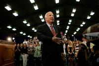 John McCain at the Campaign Town Hall Meeting In Alexandria.