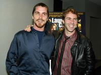 Christian Bale and Alessandro Nivola at the premiere of