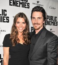 Sibi Blazic and Christian Bale at the Illinois premiere of