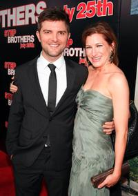 Adam Scott and Kathryn Hahn at the premiere of