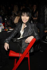 Joan Jett at the Betsey Johnson 2008 fashion show during the Mercedes-Benz Fashion Week Fall 2008.