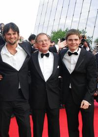 Director Hans Weingartner, Burghart Klaussner and Daniel Bruhl at the official projection of