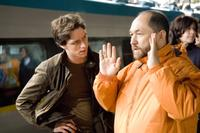 Director Timur Bekmambetov and James McAvoy on the set of