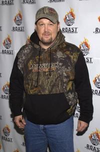 Larry The Cable Guy arrives to the Comedy Centrals Jeff Foxworthy Roast.