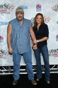 Larry the Cable Guy and Cara Whitney at the Comedy Central Roast of Larry The Cable Guy.