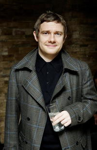 """Martin Freeman arrives at the UK premiere of """"Infamous"""" in London, England."""