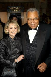 James Earl Jones and his wife Cici Jones at the opening night of