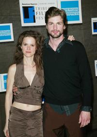 Jennifer Elster and Gale Harold at the opening night party of 2003 Tribeca Film Festival.