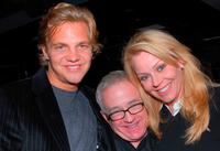 Taylor Handley, Leslie Jordan and Gail O'Grady at the premiere party of