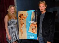 Amber Heard and Taylor Handley at the premiere of