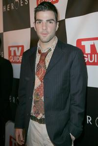 Zachary Quinto at the celebration of the wrap of season one of