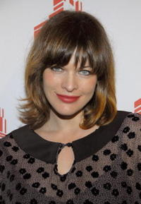 Milla Jovovich at the L.A. debut of her fashion line Jovovich-Hawk.