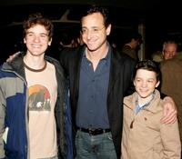 Harry Zittel, Bob Saget and Conor Donovan at the opening of