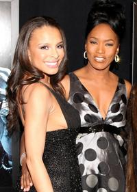 Antonique Smith and Angela Bassett at the premiere of