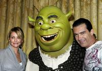 Antonio Banderas and Cameron Diaz at the presscall of