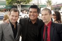 Producer Thomas Lennon, George Lopez and Robert Ben Garant at the premiere of