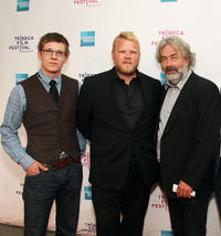 Magnus Skatvold, Anders Baasmo Christiansen and producer Sigve Endresen at the premiere of