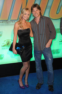 Laura Vandervoort and Chris Carmack at the California premiere of