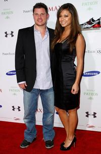 Nick Lachey and Vanessa Minnillo at the MAXIM Magazine kicks off Super Bowl weekend.