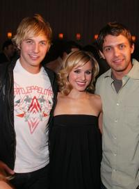 Ryan Hansen, Kristen Bell and Ryan Devlin at the official launch of Ubisoft's