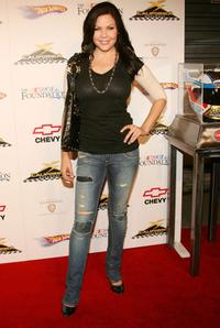 Christa Campbell at the California Speedways Running Wide Open in Hollywood party.