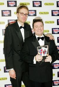 Stephen Merchant and Ricky Gervais at the British Comedy Awards 2004.