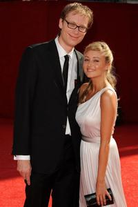 Stephen Merchant and Claire Jones at the 60th Primetime Emmy Awards.