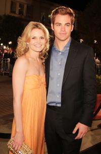 Jennifer Morrison and Chris Pine at the California premiere of