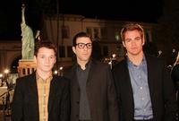 Anton Yelchin, Zachary Quinto and Chris Pine at the California premiere of