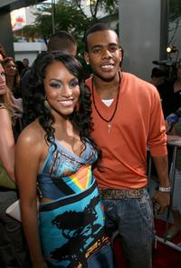 Drew Sidora and Mario at the premiere of