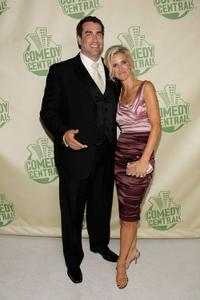 Rob Riggle and his Wife at the Comedy Central Emmy After Party.
