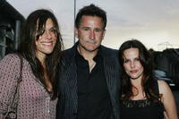Anthony LaPaglia, his wife Gia Carides and Ally Fowler at the launch for the Flickerfest Short Film Festival at Icebergs.