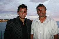 Anthony LaPaglia and John Cosmina at the launch for the Flickerfest Short Film Festival at Icebergs.