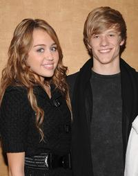 Miley Cyrus and Lucas Till at the screening of