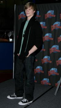 Lucas Till at the promotion of