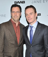 Focus Features president Andrew Karpen and Michael Fassbender at the New York premiere of