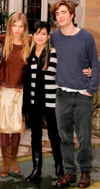 Clemence Poesy, Katie Leung and Robert Pattinson at the photocall of