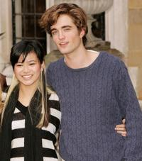Katie Leung and Robert Pattinson at the photocall of