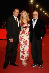 Robert Davi, Eloise DeJoria and Peter Bogdanovich at the premiere of