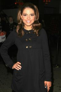 Maria Menounos at the Mercedes-Benz Fashion Week Fall 2008.