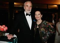Christopher Lee and his wife Gitte at the Montblanc VIP Charity Gala.