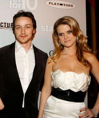 James McAvoy and Alice Eve at the premiere of