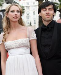 Frederique Bel and Emmanuel Mouret at the premiere of