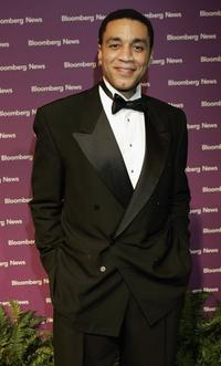 Harry J. Lennix at the Bloomberg News Party.