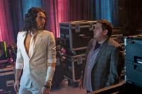 Russell Brand as Aldous and Jonah Hill as Aaron in