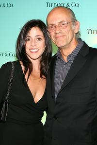 Christopher Lloyd and Guest at the launch of 2007 Blue Book Collection.
