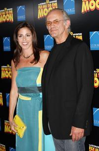 Christopher Lloyd and his Guest at the premiere of