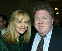 Shelly Long and actor George Wendt at the Los Angeles Free Clinic's 27th Annual Benefit.