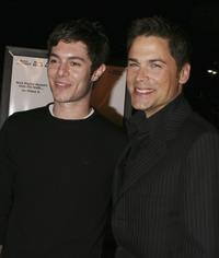 Rob Lowe and Adam Brody at the Premiere of